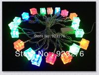1Sets 20LEDs RGB pixel module,Modeling String lights  Ice cream brick lights AC220/110V LED String Light 1S