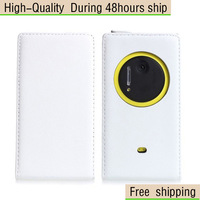 New Genuine Real Flip Leather Case Cover For Nokia Lumia 1020 Free Shipping UPS DHL HKPAM CPAM NR-10