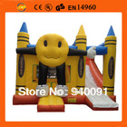 Factory direct inflatable trampoline, inflatable castles, inflatable slides, inflatable fun city. Smiley trampoline slide(China (Mainland))