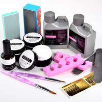 Acrylic powder with Acrylic liquid nail primer brush clipper tool set NA821