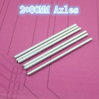 Diameter  2mm length 80mm Toy axles, steel shaft, connecting axle 10pcs/lot free  shipping