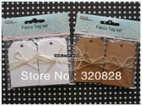 Wholesale Blank Scrapbook baking label DIY Kraft Paper tags  label Gift Tags Retro decoration Hang tags 240pcs/lot Free shipping