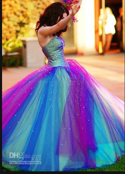 Vestidos de XV arcoiris - Imagui