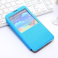 High Quality New Style Leather Smart Open Window PC PU Case Cover for Samsung Galaxy Note 3 N9000 Free Shipping