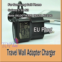 Travel Wall Adapter Charger EU Plug ETAOU10EBE For Samsung Cell Phone Galaxy S S2 S3 Note I9100 I9300 I9220 N7100  20pcs/1lot