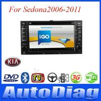 Android Car DVD For KIA Sedona GPS 2006-2011 with Digital TV/IPOD Car GPS For Sedona KIA DVD Radio