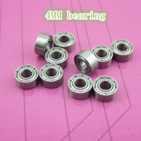 Quality bearing diameter 4MM * 4MM OD 9MM * height bearing steel toy model four-wheel drive accessories 10pcs/lot free shipping