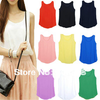 Fashion Chiffon Blouses cool Top Vest Shirts for hot summer 8099#