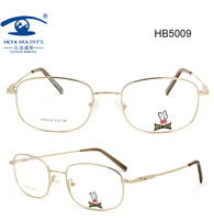 Top Quality New Metal Material Monel  with Super Light Memory Flexible Children Students Nerd Designer Glasses Frame