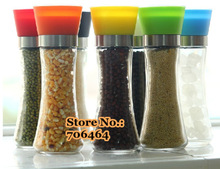 Free shipping manual glass 1 pc Pepper /Salt/ Herb/spice Mill Grinder Gourmet Cooking Set high quality kitchen tools(China (Mainland))