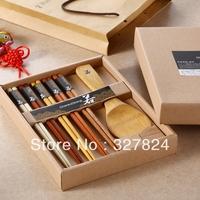 Zakka natural wood log chopsticks gift set gift box set japanese style endulge free shipping