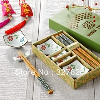 Chinese style ceramic lovers sushi tableware set drop shipping wedding gift