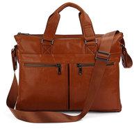 Fashion first layer of cowhide man bag genuine leather briefcase laptop bag handbag messenger bag