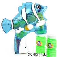 Free shipping Bubble gun transparent small fish electric bubble gun fully-automatic Large bubble gun 3