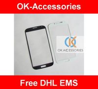 2 lots $4 / PC Original Black White Blue Color Outer Screen Touch Screen  Glass For Galaxy S4 i9500 50PCS/lot Free DHL EMS