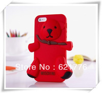 1pcs Teddy Bear Silicon 3D Case For iPhone 5 5sPackage With OPP Bag,Cute Baby Bear case for apple 5 5s