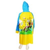 Free shipping Children cartoon Spongebob squarepants Raincoats Kid raincoat rainwear Kids Waterproof Raincoat boy rain coat