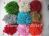 Free shipping!!! (360pcs/lot)  4-5mm multicolor floral  stamen Pistil Flower Stamen  DIY Artificial Flowers,9 Colors