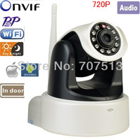 1MP wireless indoor ip camera 720P H.264 with IR cut support up to 32GB SD card