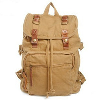 Retro casual shoulder bag backpack schoolbag travel bag men canvas bag large capacity