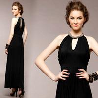new 2014 women dress fashion elegant slim thin waist evening dress dinner party sexy dress long dress  free shipping