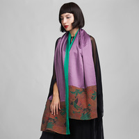 Limited edition silk double layer silk cape women's scarf national trend spring and autumn scarf