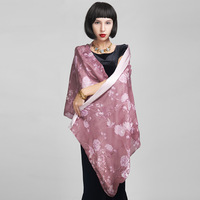 Spring and autumn women's cape silk patchwork scarf flower print cheongsam cape dawnlight
