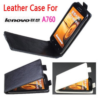 Up Down Open Lenovo A760 Flip Leather Case pouch cover case For Lenovo A760 Mobile Phone Free Shipping BW