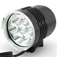 2 IN 1 Super Bright Bike Light 7*Cree XM-L T6 7T6 Bicycle Light 3 Mode 6000LM Headlamp Headlight +  8800mAh Battery Pack