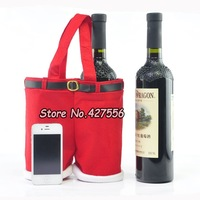 2013  big size Santa pants style bag champagne bag Christmas Gifts chrismas decoration bags  Wedding Candy Bags Free Shipping