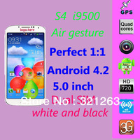 "Smart screen Air gesture Eyes control Perfect 1:1 HDC I9500 S4 phone MTK6589 Quad cores Smart phone 5.0"" 1280*720 IPS Screen"