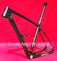 "FR-503 - Full Carbon UD Glossy 27.5ER 650B Mountain Bike MTB BSA English Thread (17""/ 19"")Frame  + Seatpost + Cage"