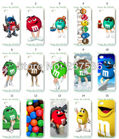 2013 Hot  free shipping New 15pcs/lots wholesale m&m's chocolate hard white case cover for iphone 4 4S 4G