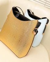 new 2013  women leather handbags designers brand messenger bag 4 colors crocodile grain vintage genuine leather  high quality