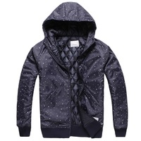 Npc 2013 ncs polka dot squares irregular with a hood cardigan wadded jacket cotton-padded jacket outerwear