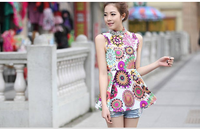 6599 elegant print slim dress