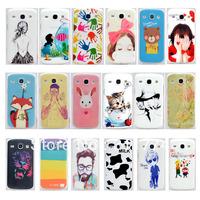 Hot Sales 18 Styles Cartoon Plastic Hard Cover Case For Samsung Galaxy Core i8260 i8262, 10Pcs/lot Free Shipping