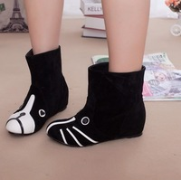 Free shipping Autumn 2013 beasts cartoon flat heel boots casual high-top shoes women's shoes autumn and winter boots