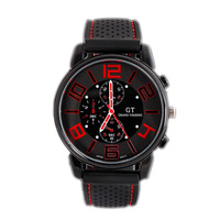 Men Sport  Silicones Rubber  Racer Watch GT Brand Japan Movement Good Quantity Free Shipping   GT004