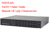 H.264 Video Audio NAT ID P2P Cloud PTZ Network USB RS485 D1 4ch Hi3515 DVR Recorder,Digital Video Recorder
