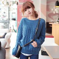 New 2015 Hot sale Autumn -Summer Pullover Sweater Women Winter  Sweaters Women Fashion Brand Long Sleeve Mint Pink