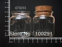 free shiping !!! Wholesale Lot of 50pcs/lot Clear Corks Glass Bottle Vials 50ml