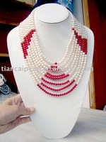 Pearl Jewelry-Fashion Elegant Freshwater Pearl Necklace Set