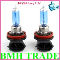 100%NEW Arrival&Wholesale Supper Bright 2PCS White H8 Long Life Safe Halogen Auto Car Bulb Lamp Light 6000K 12V 35W Freeshipping