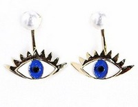 Korean brand DAHONG USA personality exaggerated eyeball big eyes pearl stud earrings fashion jewelry x29