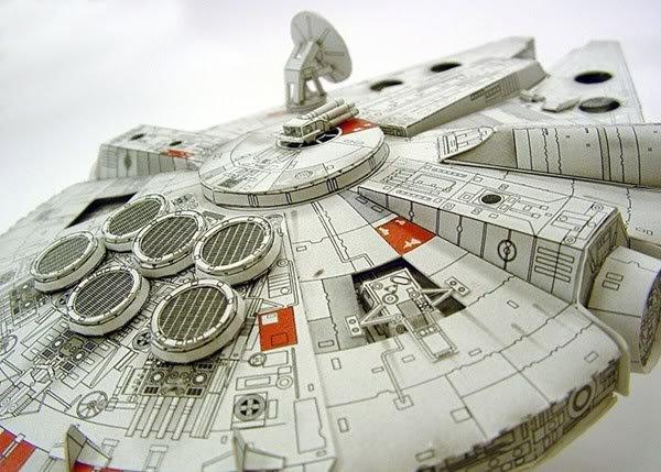 Wholesale - 1pcs Hot Sale - Star Wars Millennium Falcon model alice paper model ship DIY toy free shipping(China (Mainland))