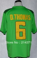 Free shipping - Oregon Duck  #6  De'Anthony Thomas  Green  College Football Jerseys size: 48-56