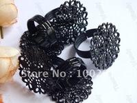 Black 25mm pad 100piece ring base ring blanks ring setting