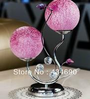 Basons glass iron decoration table lamp modern brief lamp bedroom bedside lamp crystal lamp