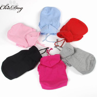 Plain colours Dog sports track suit clothes puppy pets hoody coat cotton XS-XL 9colors